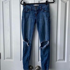 Levi's 524 Too Superlow deconstructed jeans